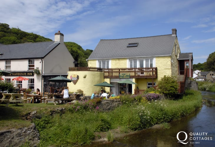 Number 35 on the banks of the Solva River - delicious homemade meals and ice creams!