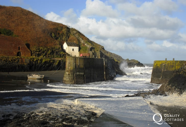 Porthgain is a pretty sheltered village popular for boating, rowing, fishing and canoeing and just a short drive along the coast