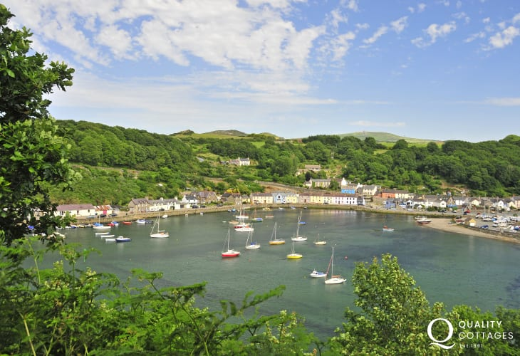 Lower Town Fishguard - The Marine Walk takes you round the coastline