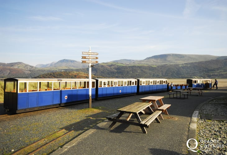 The tiny Fairbourne steam train is a fun experience for all ages