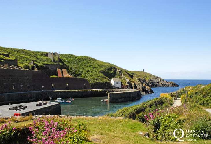 Porthgain - a picturesque fishing village popular with walkers and just one of many dotted along this North Pembrokeshire coastline