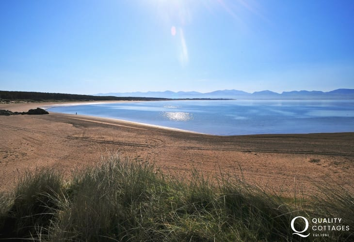 Newborough beach Anglesey, one of Britain's finest beaches