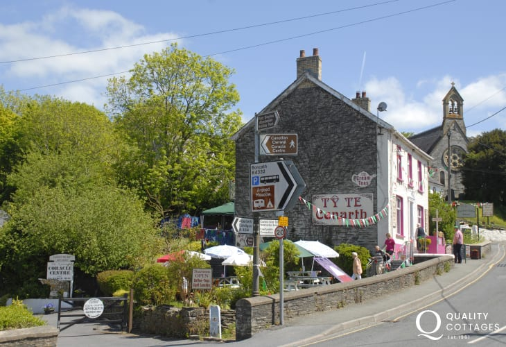 Do visit the picturesque village of Cenarth - famous for the Salmon Leap Falls and home to the National Coracle Centre