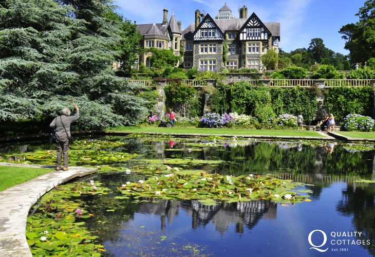 The fantastic Bodnant Gardens, owned by the National Trust, are well worth a visit