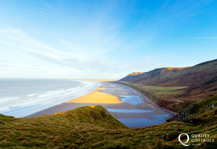 Rhossili Bay has been described as, the supermodel of British beaches
