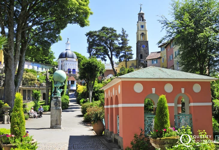The interesting architecture of the Italian inspired North Wales village, Portmeirion