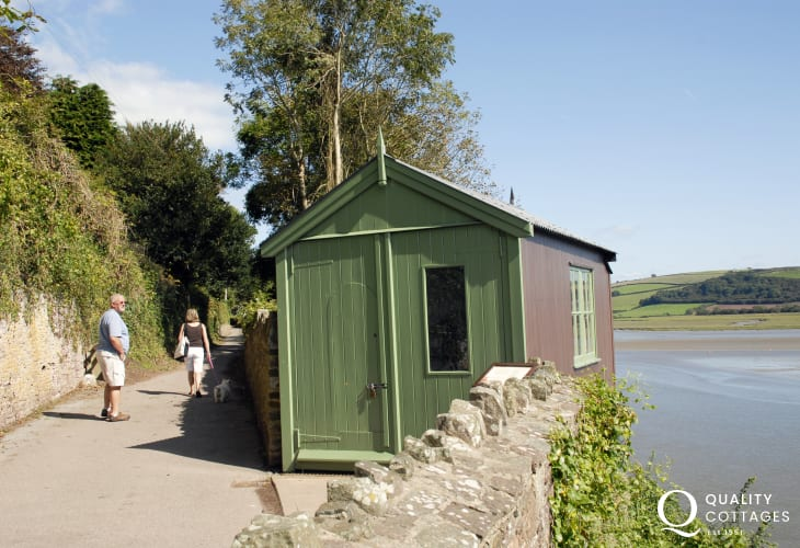 Peep into Dylan Thomas's writing shed which overlooks the spectacular Taf Estuary.