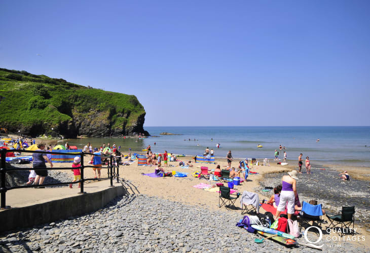 Llangrannog is a short drive away along the coast - great for swimming, rock pooling, fishing and smugglers caves!