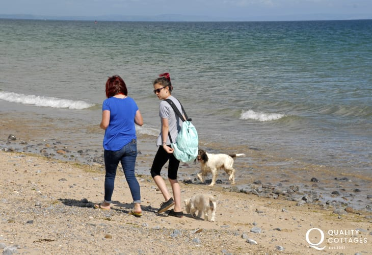 Many Quality Cottages welcome Pets-Enjoying the beach together