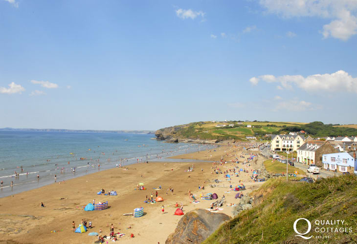 Broad Haven North - a glorious sandy Blue Flag beach just along the coast from Newgale