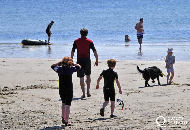 Aberdaron beach, a great family destination all year around