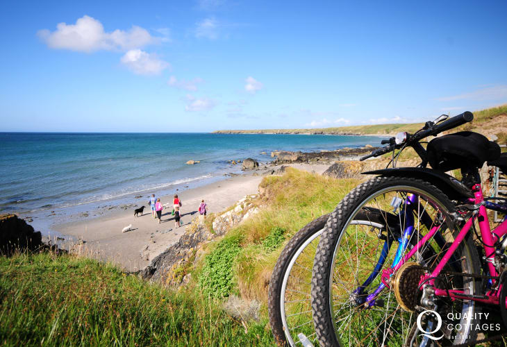 Porth Colman Beach can be accessed by road or via the Llyn Coastal Path