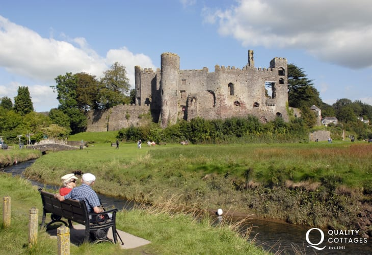 Relax and take in the romantic ruined 12th century castle at Laugharne