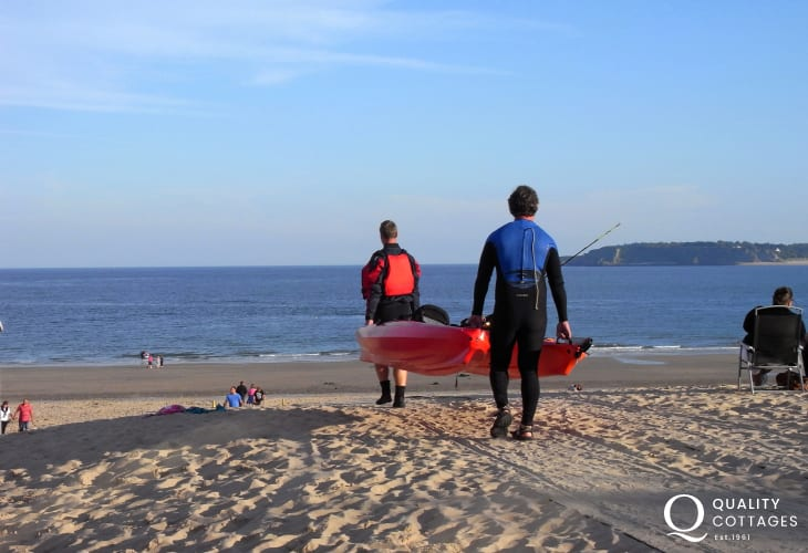 Kayak hire is available nearby - great fun for the more adventurous of you!