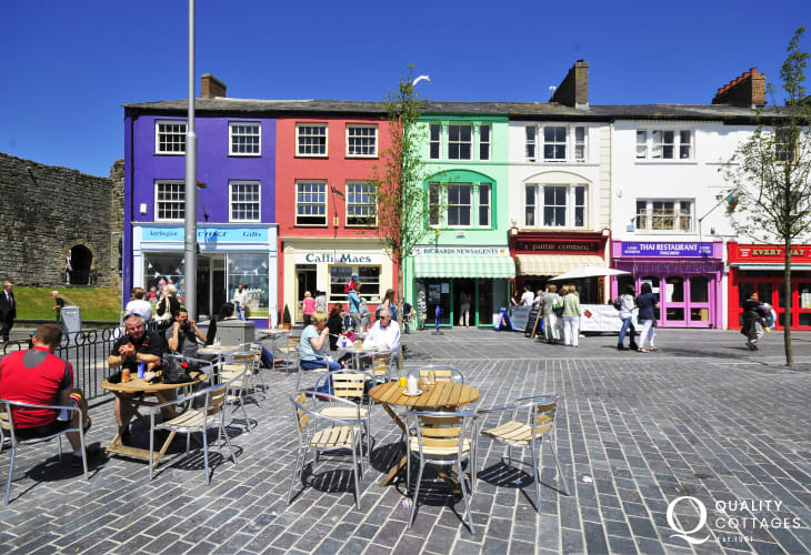 The colourful streets of the nearby Royal Town of Caernarfon