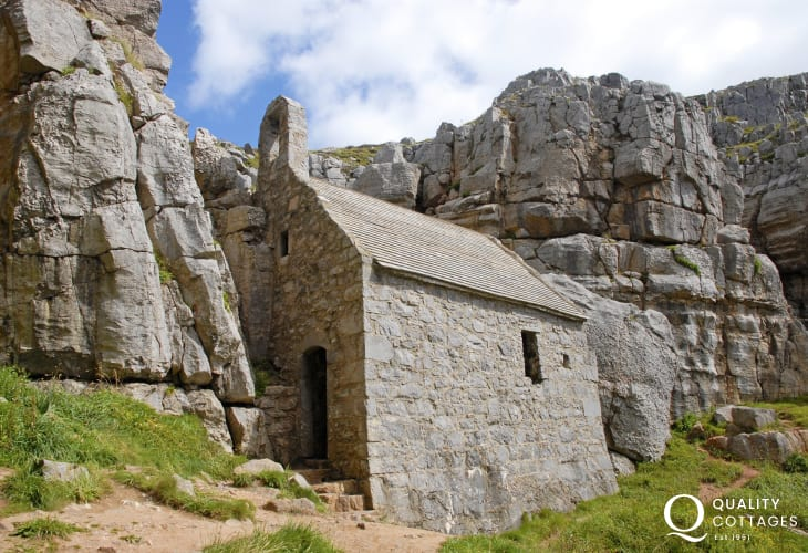 Do visit secluded St Govan's Chapel - a tiny hermit's cell built into the cliffs near Bosherston