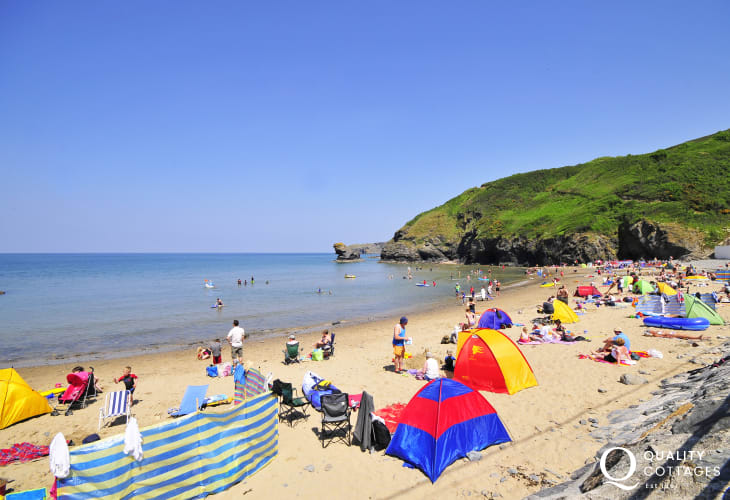 Llangrannog is a pretty seaside village with a sheltered sandy beach - once infamous as a smuggler's haunt!