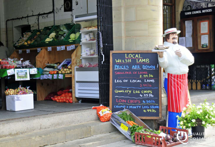 Mid Wales has plenty of market towns in which to shop