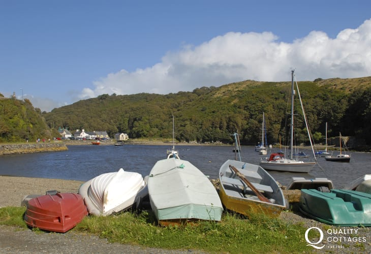Solva, a pretty, sheltered harbour village with a variety of small craft shops
