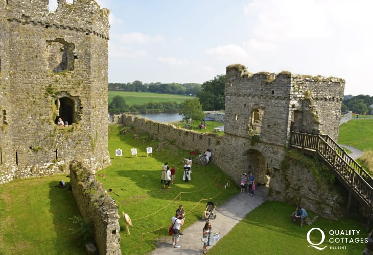 Pembroke castle, (birthplace of Henry VII), and Carew are all magnificent castles to explore