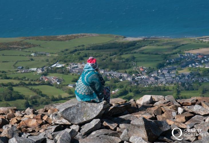 View from Tre'r Ceiri Hill fort near Morfa Nefyn