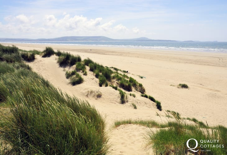 Cefin Sidan beach Pembrey Country Park - has been described one of the best beaches in Europe is nearby