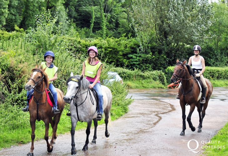 Riding along the peaceful lanes and through the woods and forests nearby