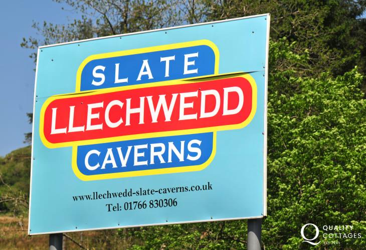 Llechwedd Slate Caverns and Zip World near Blaenau Ffestiniog