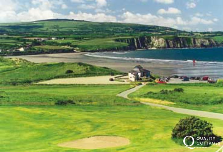 Newport links Golf Course overlooks the spectacular coast line and beaches