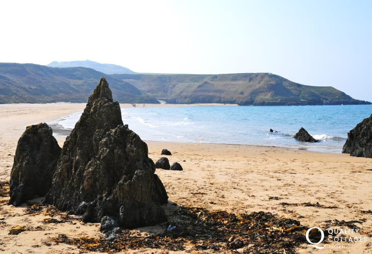 The hidden beaches along the northern edge of the Lleyn Peninsula