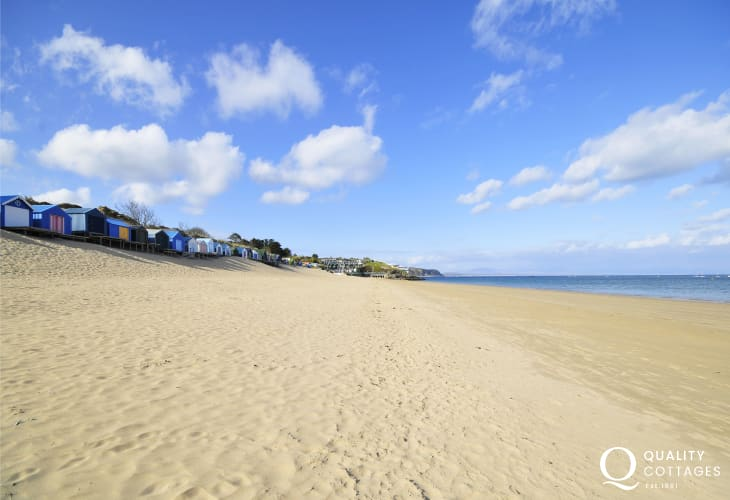 The glorious long sandy beach at Abersoch
