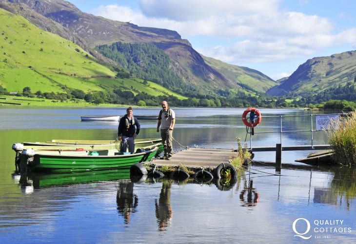 Talyllyn Lake- surrounded by the Welsh high hills and green pastures