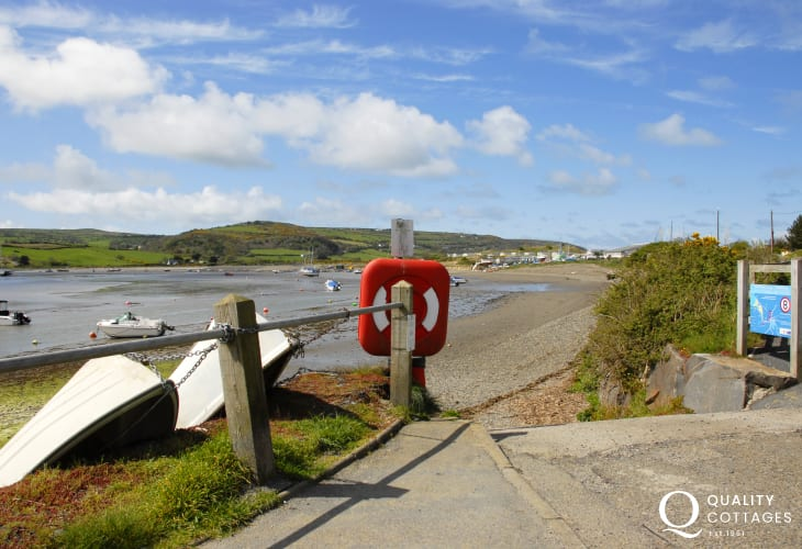 Low tide along the shore of the Teifi Estuary near 'The Patch' and the sailing club at Gwbert
