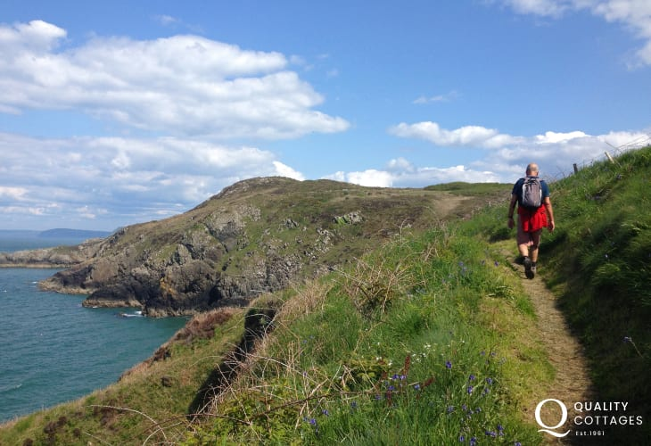 The Pembrokeshire Coast Path - stunning cliff top walking filled with flora and fauna throughout the seasons