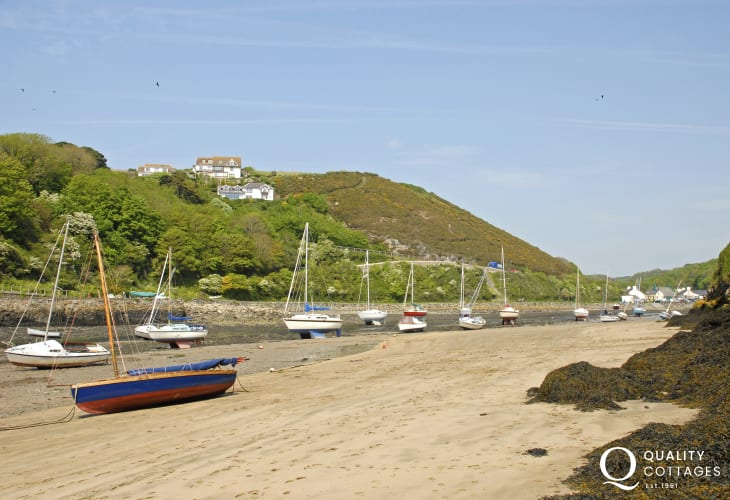 Solva harbour and beach is a very pretty location for a coastal walk followed by coffee in one of Solva's good cafés