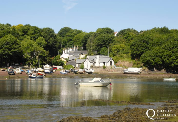Views of 'Cellar Hill' across the water from the foreshore