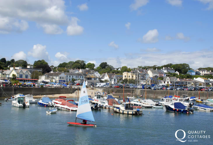 Saundersfoot is a popular coastal resort with a picturesque harbour