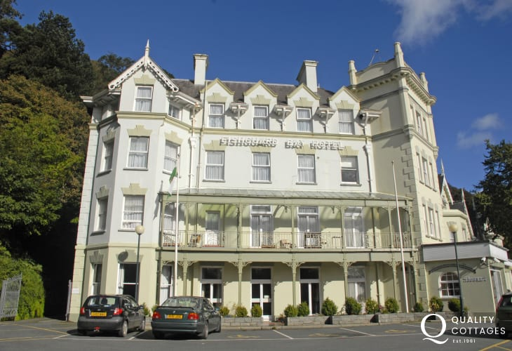 Fishguard Bay Hotel, highly recommended for traditional Sunday lunches and a tribute to a more gracious era