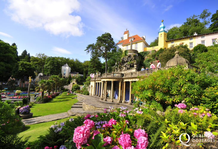 On the northern shore of Tremadog Bay is Portmeirion village, famous for its architecture, pottery and the 60's TV series 'The Prisoner'