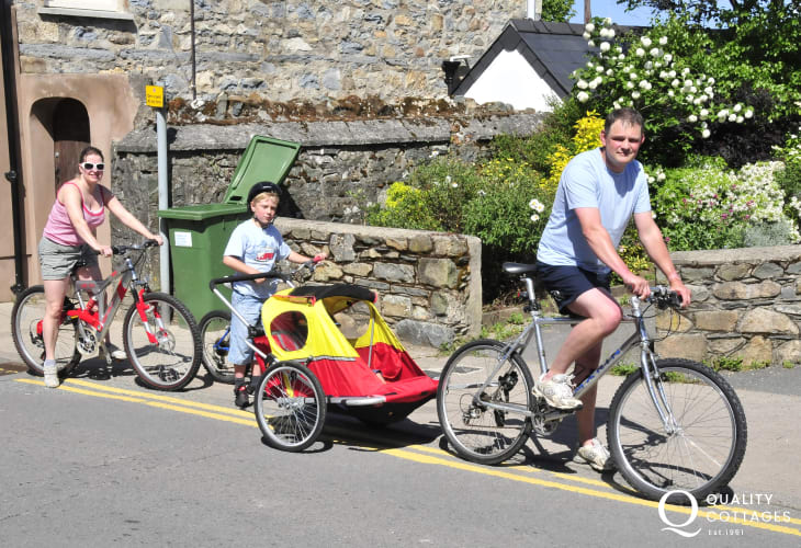 Newport Bike Hire - mountain and road bikes for all ages are available to hire including children's seats