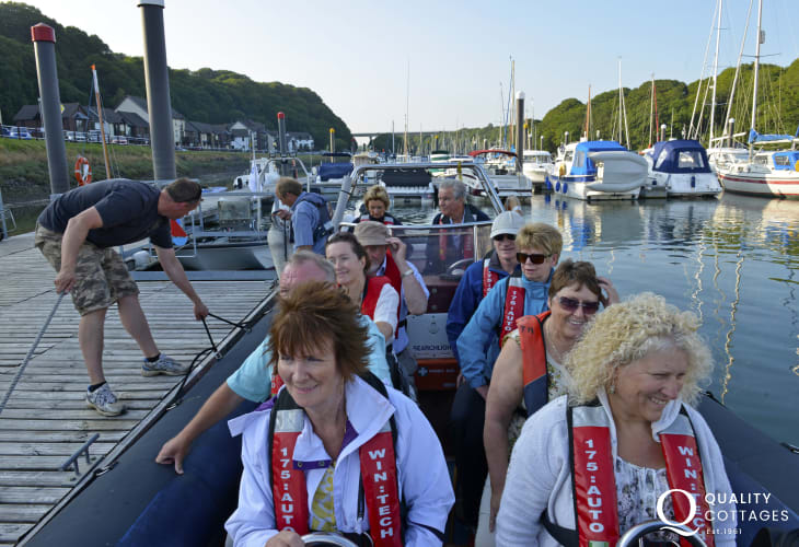 Shearwater Safaris boat trips leave from Neyland Marina to discover the Secret Waterway