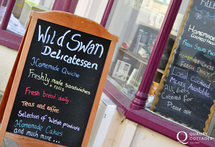 The Wild Swan Deli in Rhayader makes great quiche