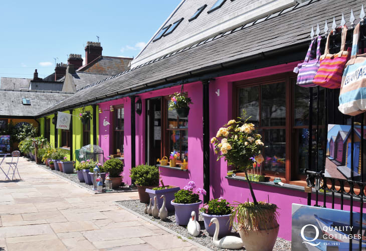 The colourful shops of Beaumaris, on the eastern edge of Anglesey Island