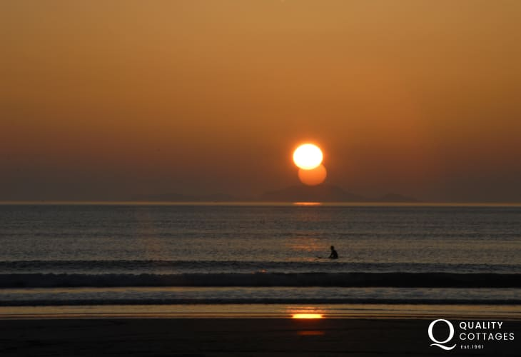 Whitesands Beach is a fabulous location for watching the sun go down at the end of the day