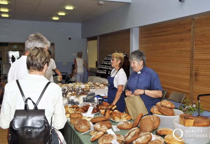 Fishguard Farmer's Market is held in the Town Hall every Saturday - delicious local produce