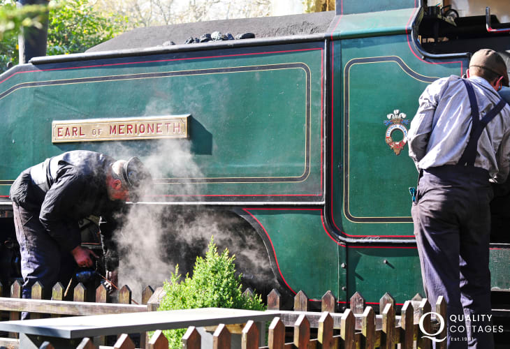 Explore the beautiful North Wales countryside by steam train.
