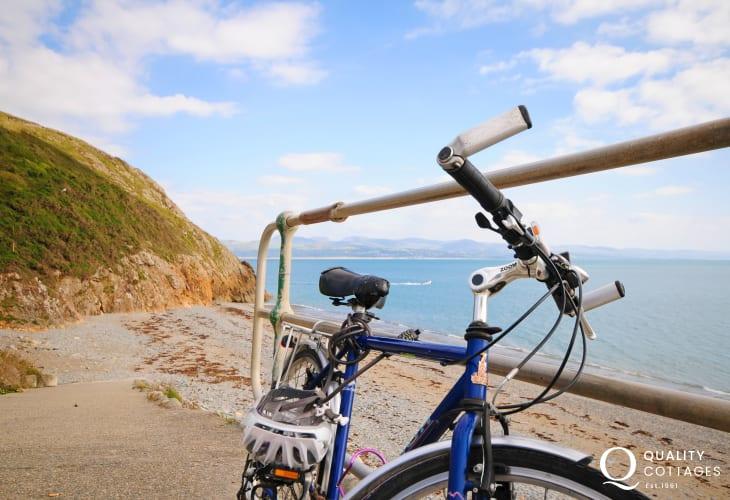 Cycling on the Llyn Peninsula coastline