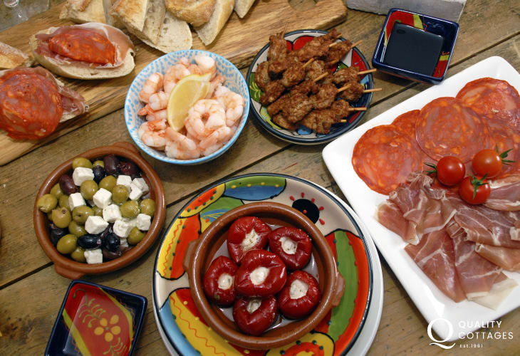 Places to eat - try Peppers, Ffrwn, No.3, Bar 5 or pick up some tasty tapas produce at The Gormet Pig