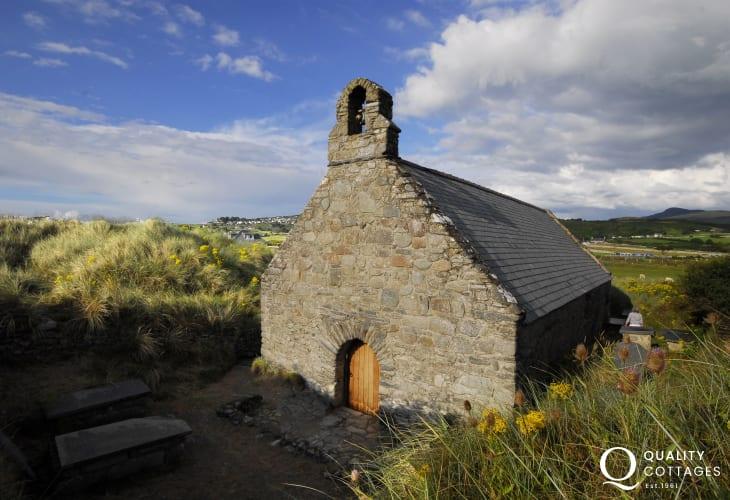 A small chapel on the beach at Llandanwg near Harlech.