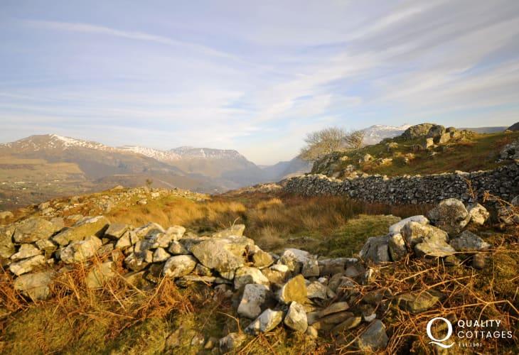 The Mountains of Snowdonia around Llanberis